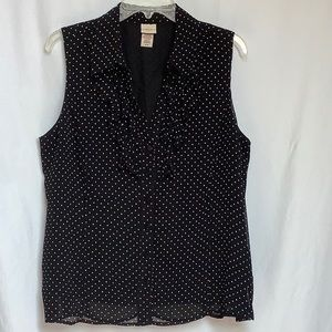 Covington Sheer Polka Dot Blouse Size XL